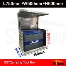 ALUMINIUM FRIDGE GENERATOR TOOL BOX 750X500X600MM Check Plate Toolbox UTE