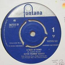 """Victor Feldman Quartet(7"""" Vinyl 1st Issue)A Taste Of Honey / Valerie-UK-Ex/VG"""