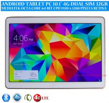 "Teléfono tablet PC 10.1"" Android 7.0 4G LTE Octa Core 32 GB IPS Dual SIM de 1920 X 1200"