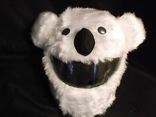 MOTORBIKE FUNNY HEEDS CRAZY CRASH  HELMET COVERS  MOTORCYCLE  COVER  POLAR BEAR