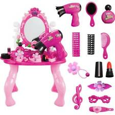 US GIRLS VANITY TABLE CHILDRENS KIDS DRESSING MIRROR MAKE UP DESK TOY PLAY SET