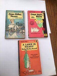 Jane Grant Sheila MacKay Russell Pan Books Three Vintage Paperbacks Used Nursing