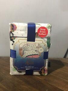 Disney Aladdin Jasmine 3 Piece FULL Size Sheet Set Bedding Sheet Pillow Case