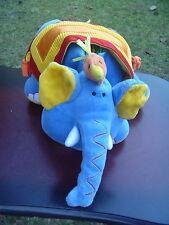 Jelly Cat Kitten Blue Circus Elephant w Bird Crinkle Rattle Plush Toy Soft Book