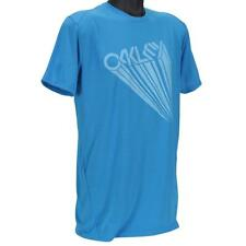 Oakley 452589 Tee Size L Large Mens Fluid Blue Print Quick Dry T-Shirt