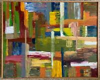Colorful Textured Abstract Oil Painting Wall Hanging Modern Contemporary Unique
