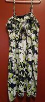 AEROPOSTALE Blue Green Tropical Floral Sundress Girls M Size 10-12