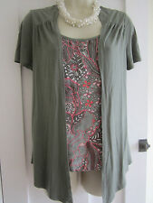 Ladies size 8 Marks and Spencer khaki with inner mix attched top short sleeves