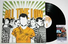 """ALL TIME LOW BAND SIGNED PUT UP OF SHUT UP 12"""" LP VINYL RECORD AUTOGRAPH JSA COA"""