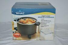 Rival Cooker/Fryer 6 Quart Chef's Pot Multi Cooker Model 22006-CHD