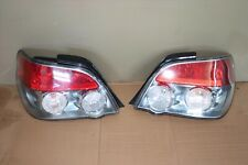 JDM 2006-2007 Subaru Impreza WRX STi Sedan Rear Tail Lights Pair Silver Housing