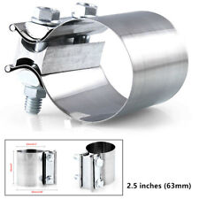 2.5 inches Stainless Ssteel 63mm Exhaust Pipe Clamp Tail Hoop Resistance Durable