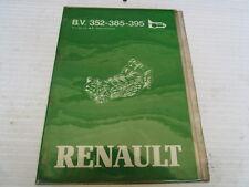 MANUEL DE REPARATION BOITE DE VITESSES RENAULT R18 R20 FUEGO REF 7711074114