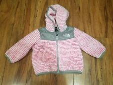The North Face Pink / White Fleece Coat Sweater Girl Size 3-6 MO