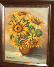 STILL LIFE WITH FLOWERS OIL PAINTING SIGNED