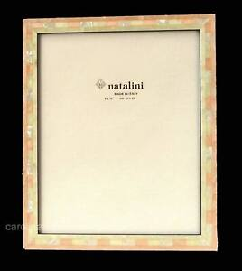 Natalini Photo Frame Pink and White Woods With Mother-of-Pearl Q-H-20 Rosa 8x10