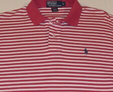 POLO Ralph Lauren Short Sleeve PINK/WHITE STRIPED Shirt PONY SOFT Men's S/Small