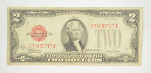 1928-F Red Seal $2 United States Note - Legal Tender - Historic *179