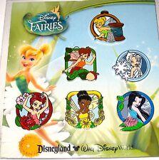 Disney Pin SET✿Tinker Bell Tink Fairy Friends Fawn Silvermist Rosetta Iridessa +