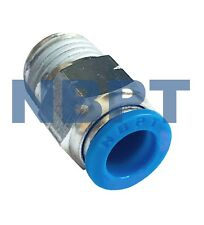 Push To Connect, One Touch Pneumatic Fitting  PC 3/8 x3/8 NPT, NBPT  5 PCS