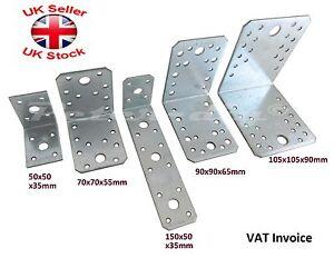 Light 2.5mm Galvanised Corner Brace Angle Bracket Timber Mending CE Certificate