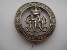 CWW1 VINTAGE SERVICES RENDERED SILVER WOUND BADGE No B243755