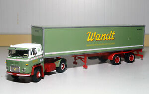 Herpa Exclusiv Scania Vabis LB 76 Container-Sattelzug Spedition Wandt MBS026000