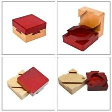 Secret Puzzle Box Brain Teaser Games Wooden Gift Hidden Diamond Favo Jewelr K0T9