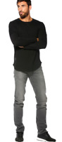 Mens Ex Lee Daren Regular Slim Men's Jeans Grey RRP £80 (Seconds) L164