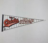 Baltimore Orioles Camden Yards Oriole Park 1992 Opener Pennant