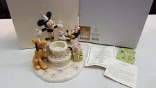 Lenox Classics Disney Happy Birthday Mickey Votive Limited Ed W/Original Box Coa