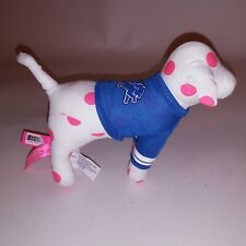 Victoria's Secret PINK Dog Stuffed Plush Detroit Lions NFL White Pink Blue