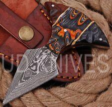 UD KNIVES CUSTOM HANDMADE DAMASCUS STEEL HUNTING FULL TANG KNIFE R-8808