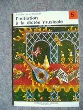 Le livre l'initiation à la musique livre de l'élève 5 ème  /G20