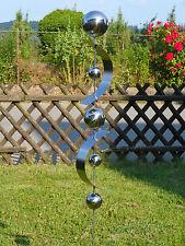 Gartenstecker D20 Edelstahlskulptur Handmade Edelstahlkugel Edelstahlstecker
