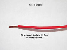 Bus wire power wire cable 4 model train rail DCC layout suit hornby 6A Red 30m