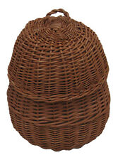 Wicker / Willow Beehive Cremation Ashes Casket (Funeral Urn / Coffin / Adult)