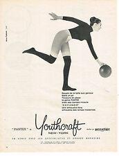 PUBLICITE ADVERTISING  1960   YOUTHCRAFT PANTEX  sous vetements
