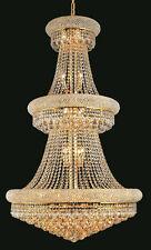 World Capital Bangle 30x50 27 Light  Crystal Chandeliers Lighting Gold foyer