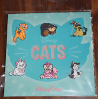 Disney Pin 110924 Disney Cats Booster Set Pack Marie Cheshire Figaro 6 pc lot