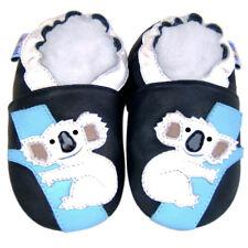 Soft Sole Leather Baby Infant Kid Boy Girl Girl Child Koala Navy Shoes 12-18M