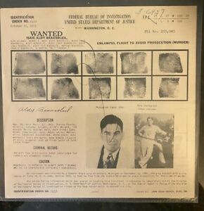 FBI 1951 Wanted ID Poster 2453 for Isaie Aldy Beausoleil - Murder