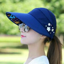 Chapeaux casquettes de baseball bleus pour femme