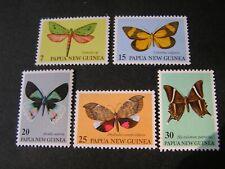 PAPUA NEW GUINEA, SCOTT # 503-507(5) 1979 COMPLETE SET MOTHS ISSUE MNH