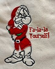 Walt Disney Grumpy Ugly Christmas Sweater Fleece Fa-la-la Yourself! Medium Shirt