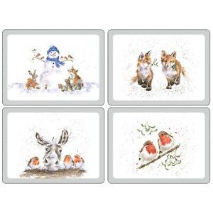 Tischset Pimpernel Wrendale Christmas Set/4 Stück 30x40 cm Placemats Kork Deko