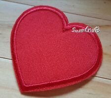 Red Love Heart Iron on Transfer Fabric Patch Badge Embroidered Applique
