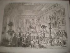 Marriage Robert Peel Emily Hay meal at Apsley House 1856 print ref AT