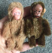 Antique Original Schuco Lot 2 MiniatuRe Monkeys So Cute Bit Worn Buy Now!