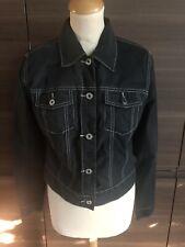 Woman's Black Gap Stretch Denim Style Jacket Size Medium In Good Condition